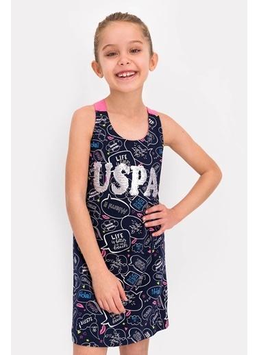 U.S. Polo Assn. Lisanslı Lacivert Kız Çocuk Elbise Lacivert